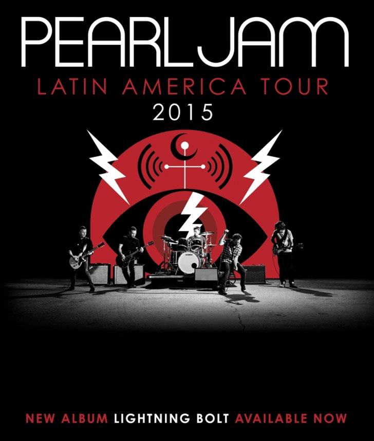 Pearl Jam anunció su gira latinoamericana y no vendrán a la Argentina