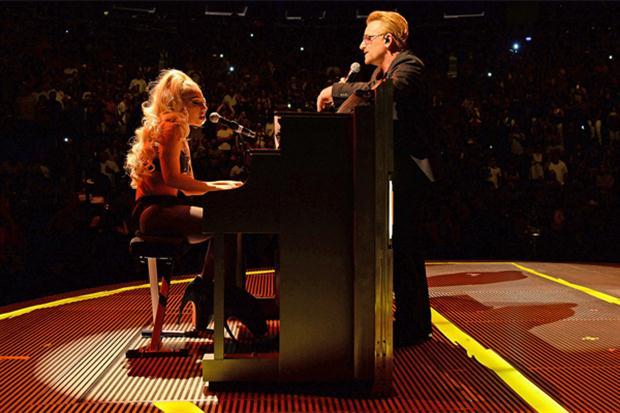 Lady Gaga cantó con U2 en el Madison Square Garden