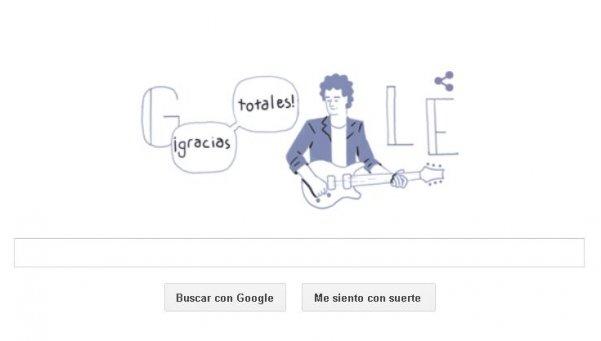 En su cumpleaños, Google homenajeó a Gustavo Cerati