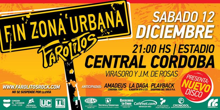 Farolitos presenta «Fin zona urbana» en Rosario