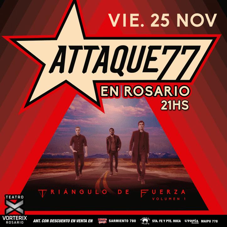 Attaque 77 toca en Rosario
