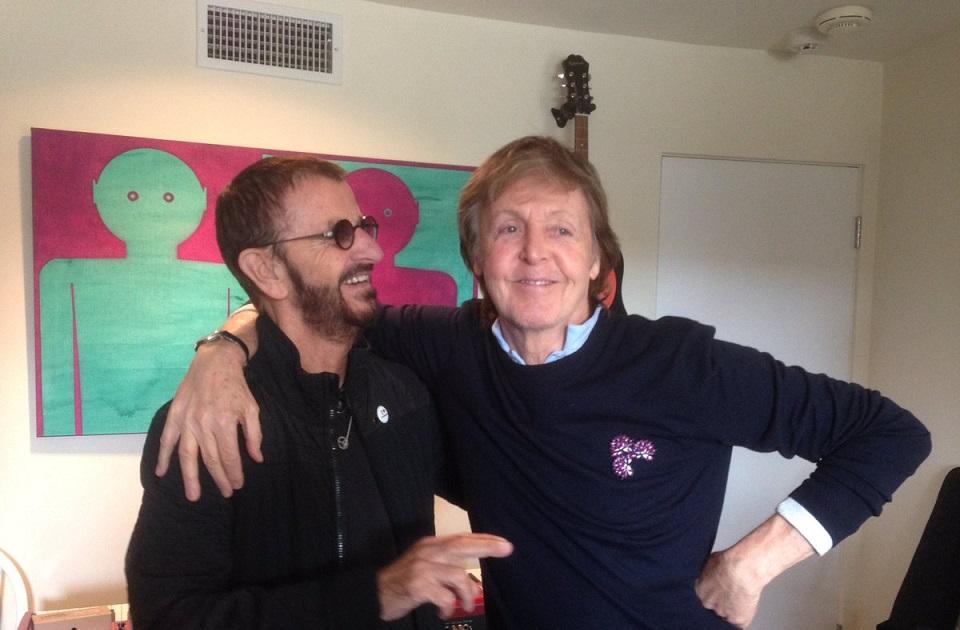 Paul McCartney grabó con su ex compañero Ringo Starr